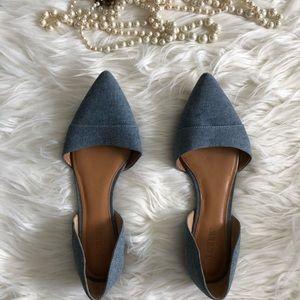 J. Crew Shoes - J Crew Chambray Flats